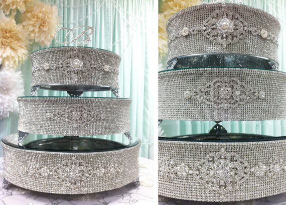 jeweled wedding cake stands silver rhinestone cake stand for wedding 16595