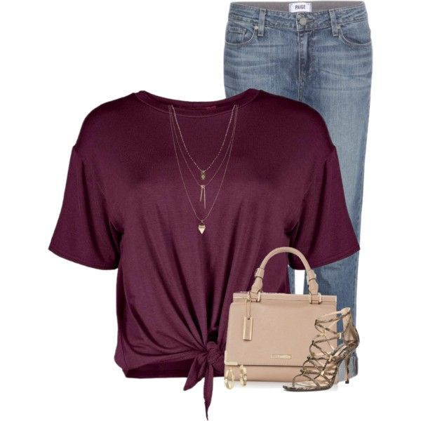 Untitled #1125 by houston555-396 on Polyvore featuring polyvore fashion style Boohoo Paige Denim Michael Kors Vince Camuto Blue Nile