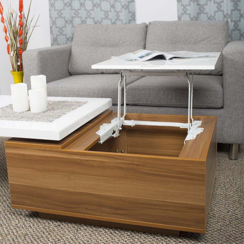 Lift Top Coffee Table The Side Also Swivels Allmodern Coffee