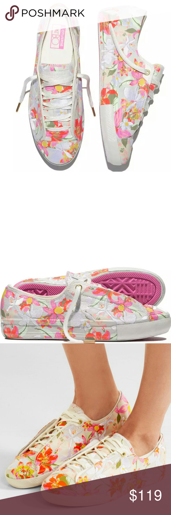 3e9f164565b495 HP Converse Chuck Taylor PatBo Floral Flowers So cute! Adorable