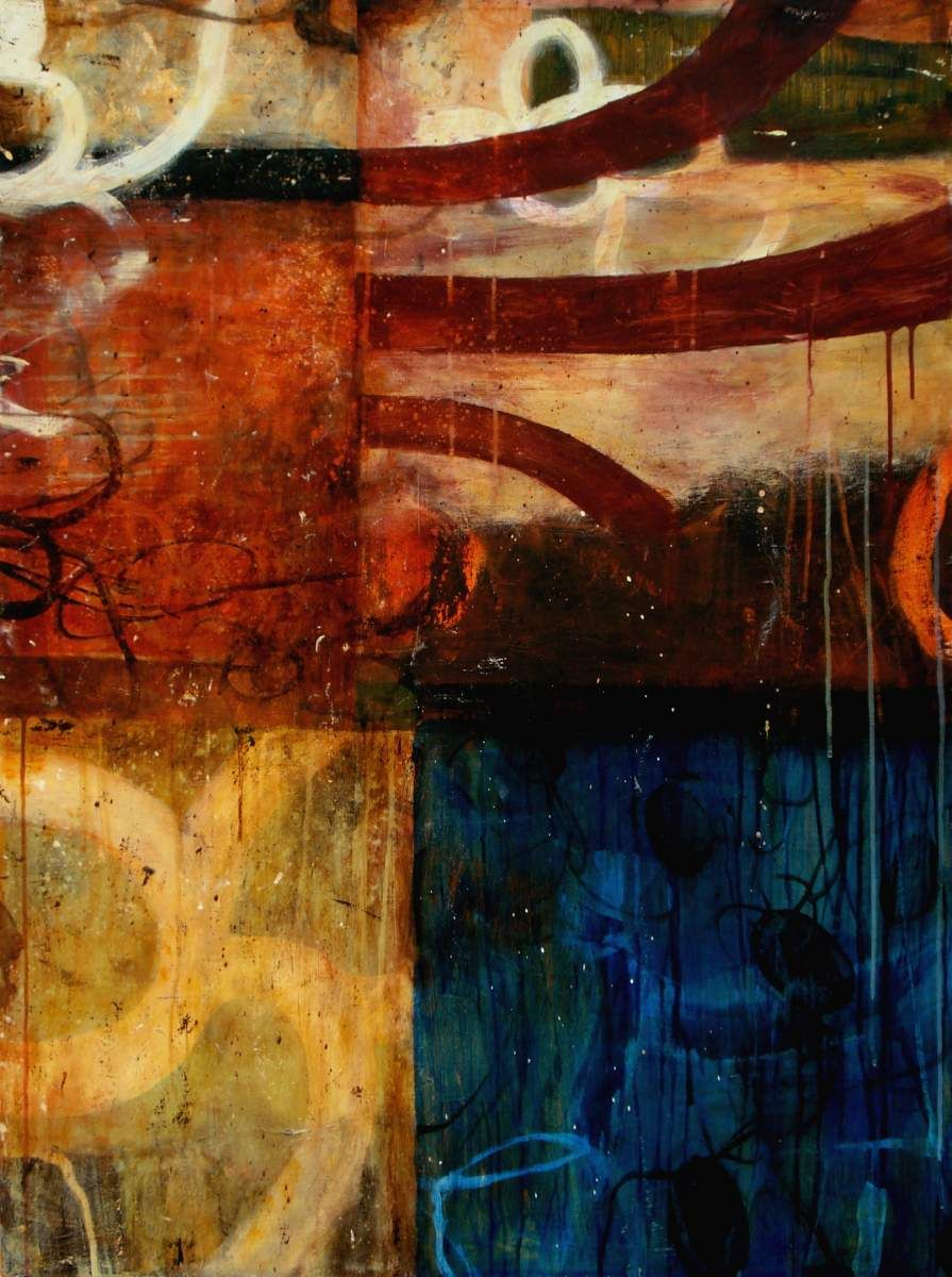 """Bill Gingles, Fire Lake        2008      Acrylic on canvas      48"""" x 36"""""""