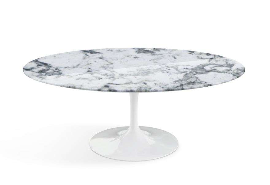 KNOLL tavolino ovale basso TULIP collezione Eero Saarinen ...