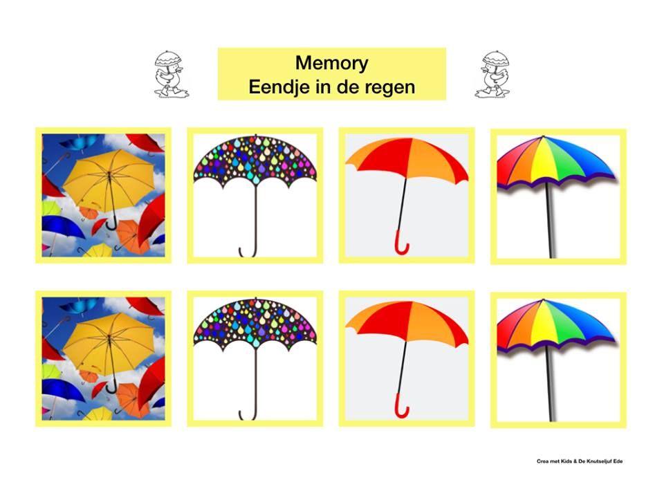 Deel 1: Eendje in de regen memory | memory regen | Eendje in