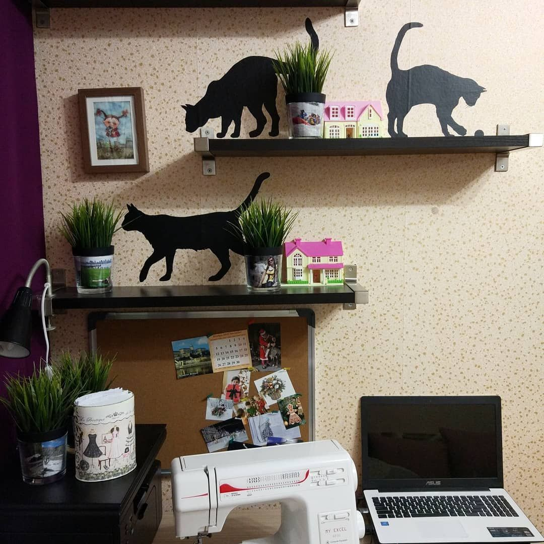 "Photo of Andrianova Natalya on Instagram: ""Craftroom decoration, interior stickers / Workshop, interior stickers"""