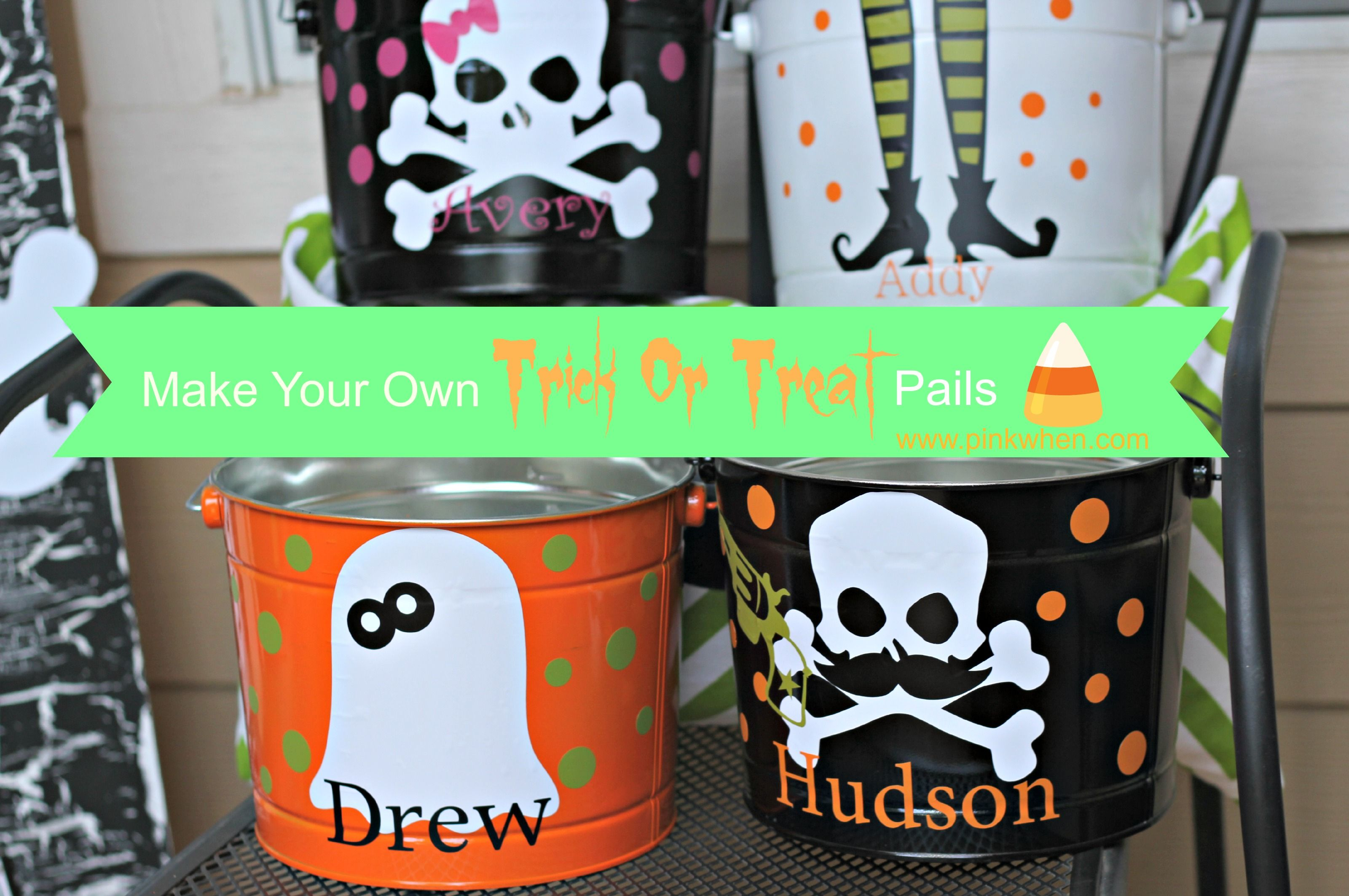 Make Your Own Trick Or Treat Pails