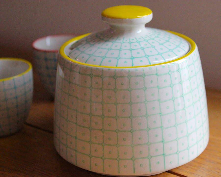 Hand Painted Porcelain Sugar Bowl