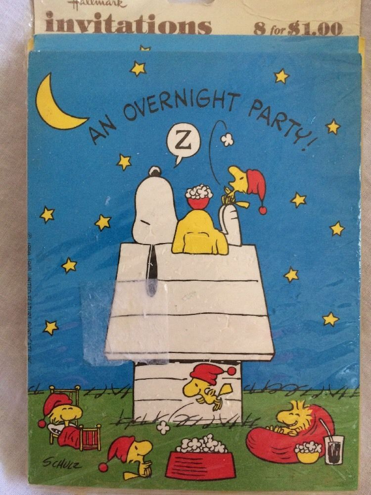 Details about Vintage Snoopy Woodstock Hallmark Party Invitations – Hallmark Party Invitations