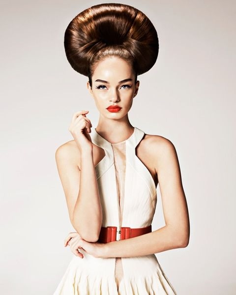 Philip Bell #BHA 2011 Scottish Ishoka Hairdressing and Beauty - Creative hairdressers #Brunette #TopKnot #Hairstyle