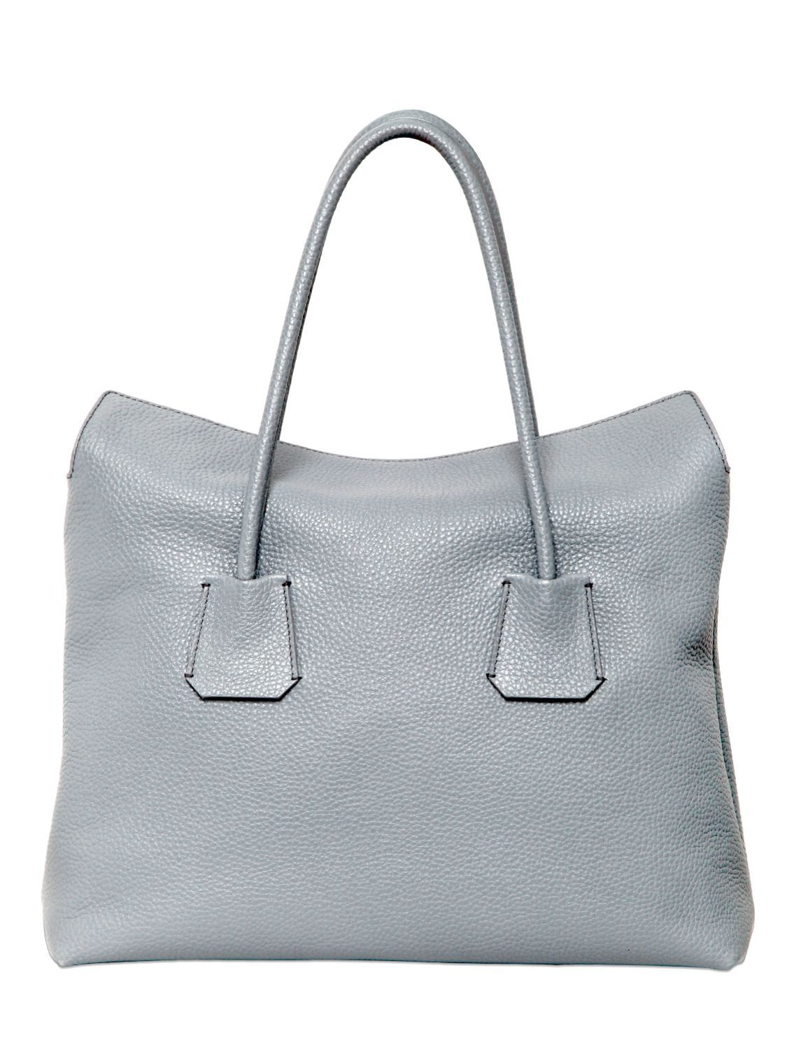 Women s Gray Baynard Grained Leather Top Handle Bag  500d3e6be0ee2