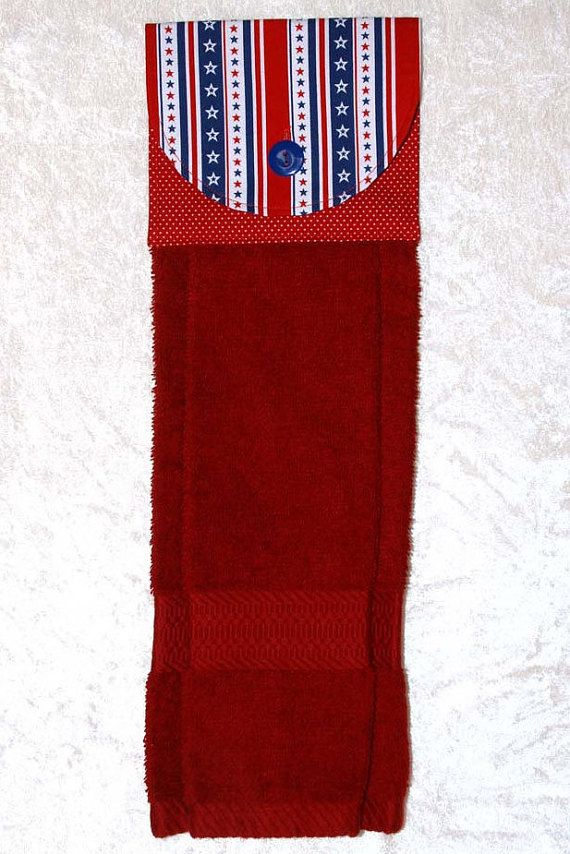 Hanging Dish Towel Bath Towel Red White And Blue Tea Towel