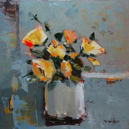 Mary Davidson (Scottish contemporary) ~Yellow Roses