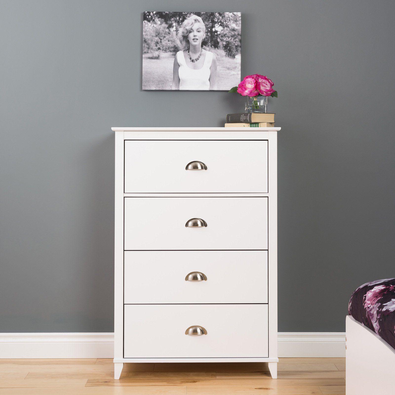 Prepac Yaletown 4 Drawer Chest Furniture White Chests Prepac [ 1600 x 1600 Pixel ]