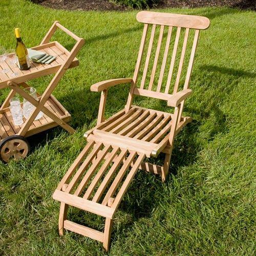 Awesome Callista Teak Outdoor Folding Steamer Lounge Chair Garden Theyellowbook Wood Chair Design Ideas Theyellowbookinfo