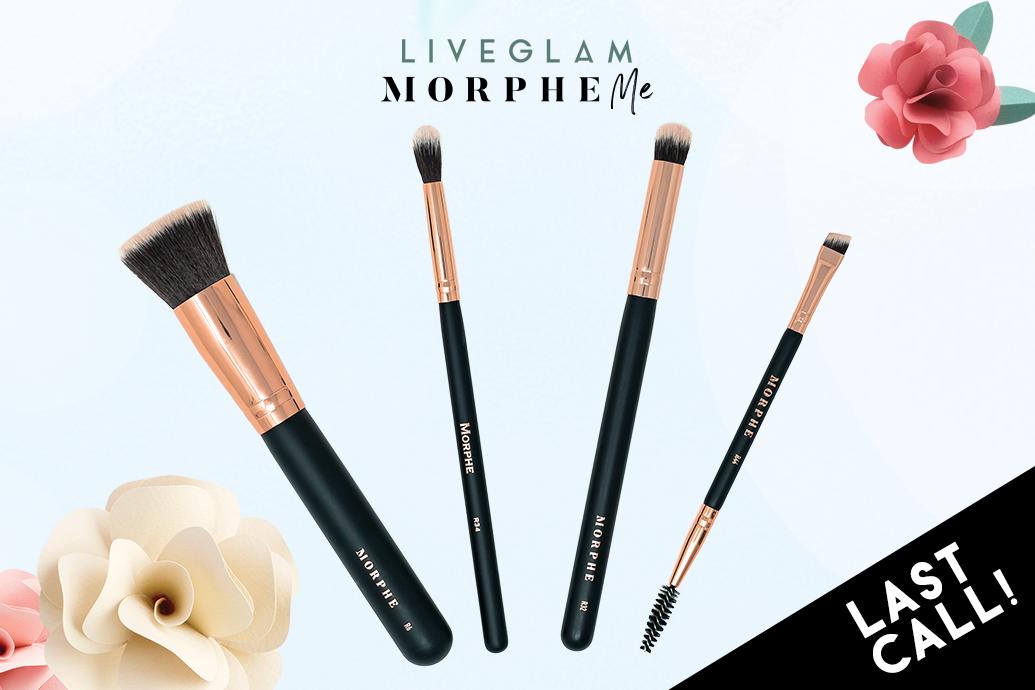 Last Call for LiveGlam April 2019 MorpheMe Brushes