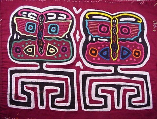 Kuna Tribe Butterfly Mola San Blas-Panama 3.49274