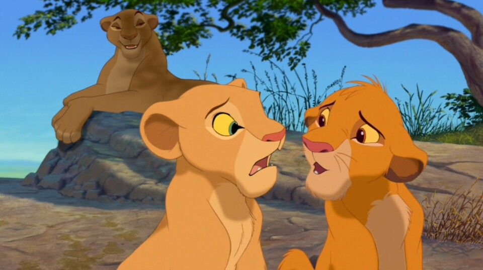 Simba With Nala And His Mother Queen Sarabi Lion King Movie
