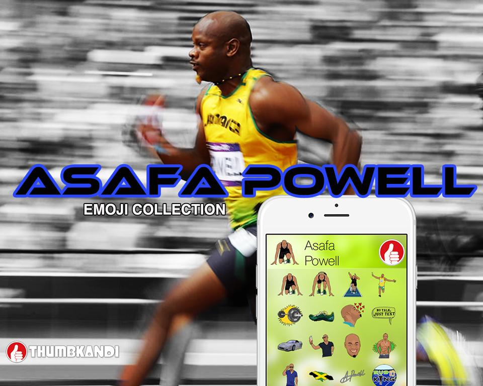 No Talk Just Text Me With Asafa Powell S Emojis Notalkjusttext Asafapowell Running Thumbkandi Emojis Asafa Powell Track And Field Powell