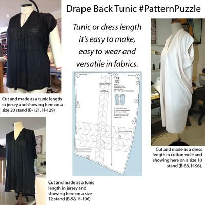 One pattern for all Sizes in Knit! Drape Back Tunic Pattern PDF ...