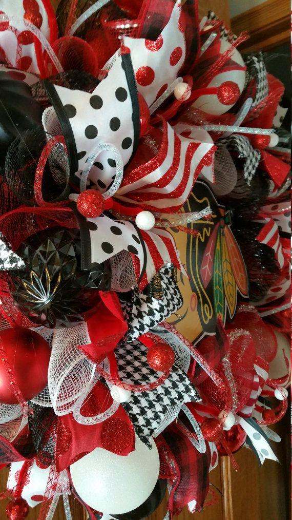 Chicago Blackhawks wreath Blackhawks wreath Hawks by