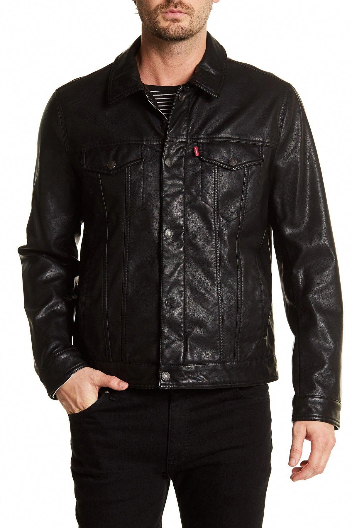 Classic Faux Leather Trucker Jacket by Levi's on