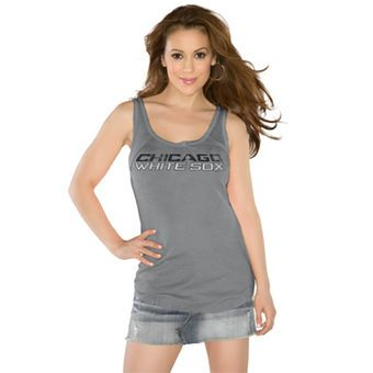 44af65ded Women s Chicago White Sox Touch by Alyssa Milano Gray Curve Ball Tank Top