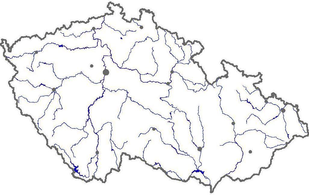 Vodstvo Cr Mapa Zemepis Domaci Uceni Mapa