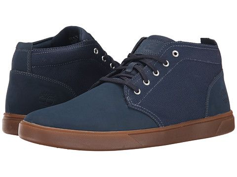 Timberland groveton leather and fabric chukka leather canvas, Navy.  Timberland ShoeShoes MenMan ...