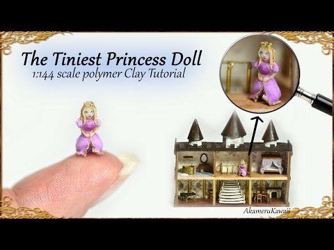 Tiny Princess Dollhouse Doll 1:144 scale Tutorial