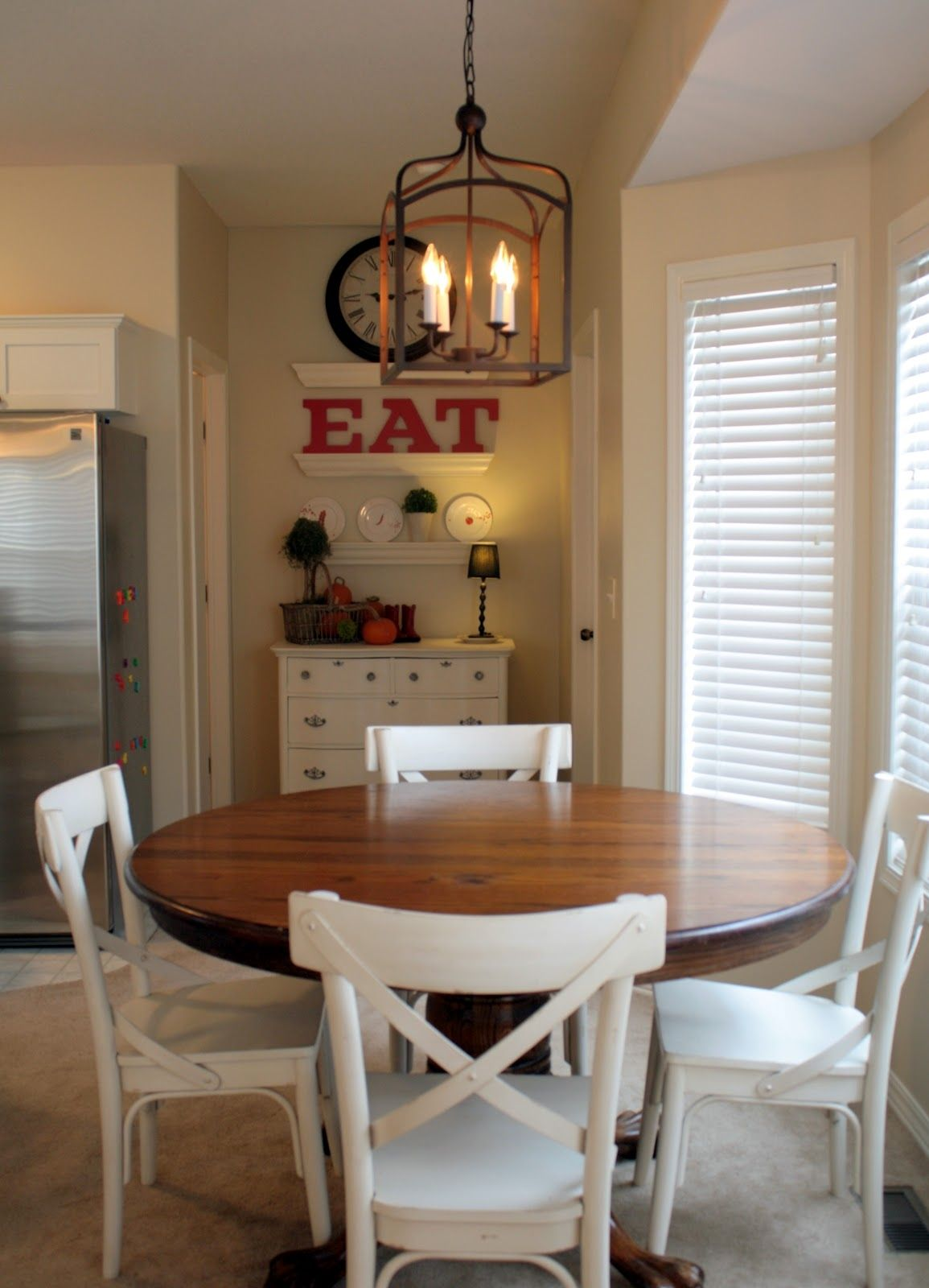 Lighting Over Round Kitchen Table