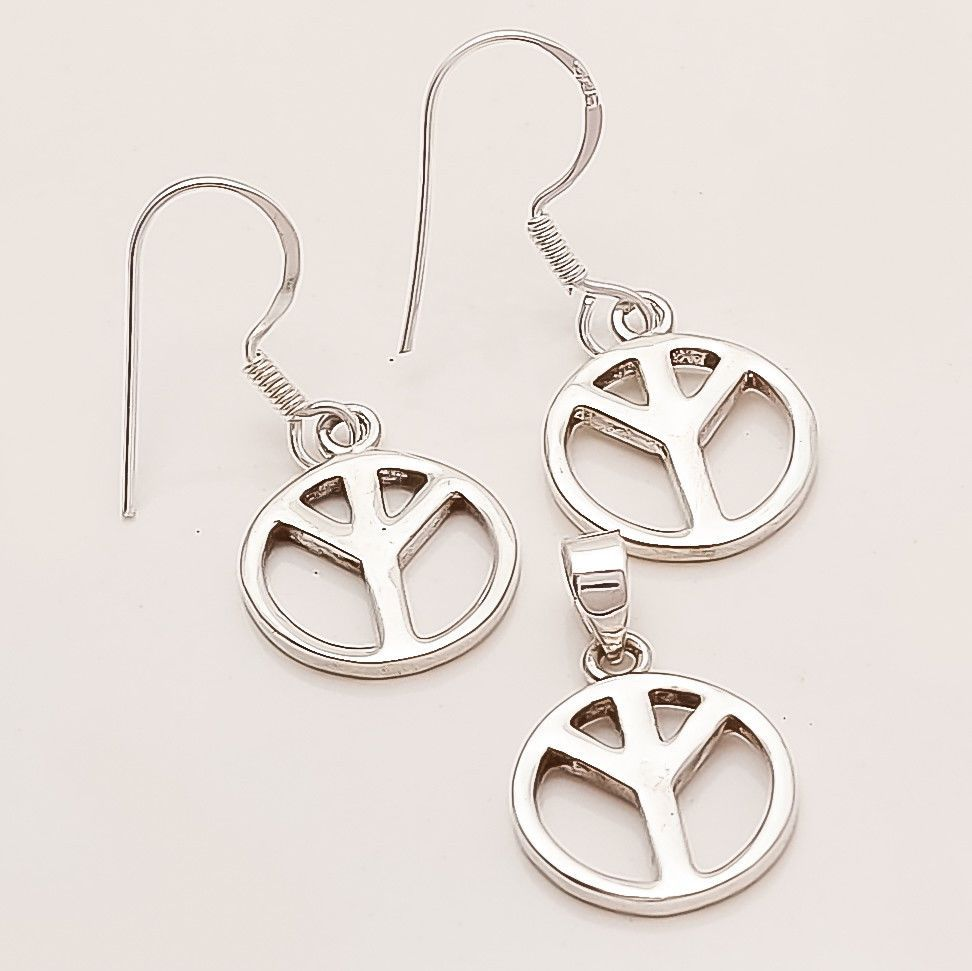Details about symbol of protect jewelry set earrings u pendant