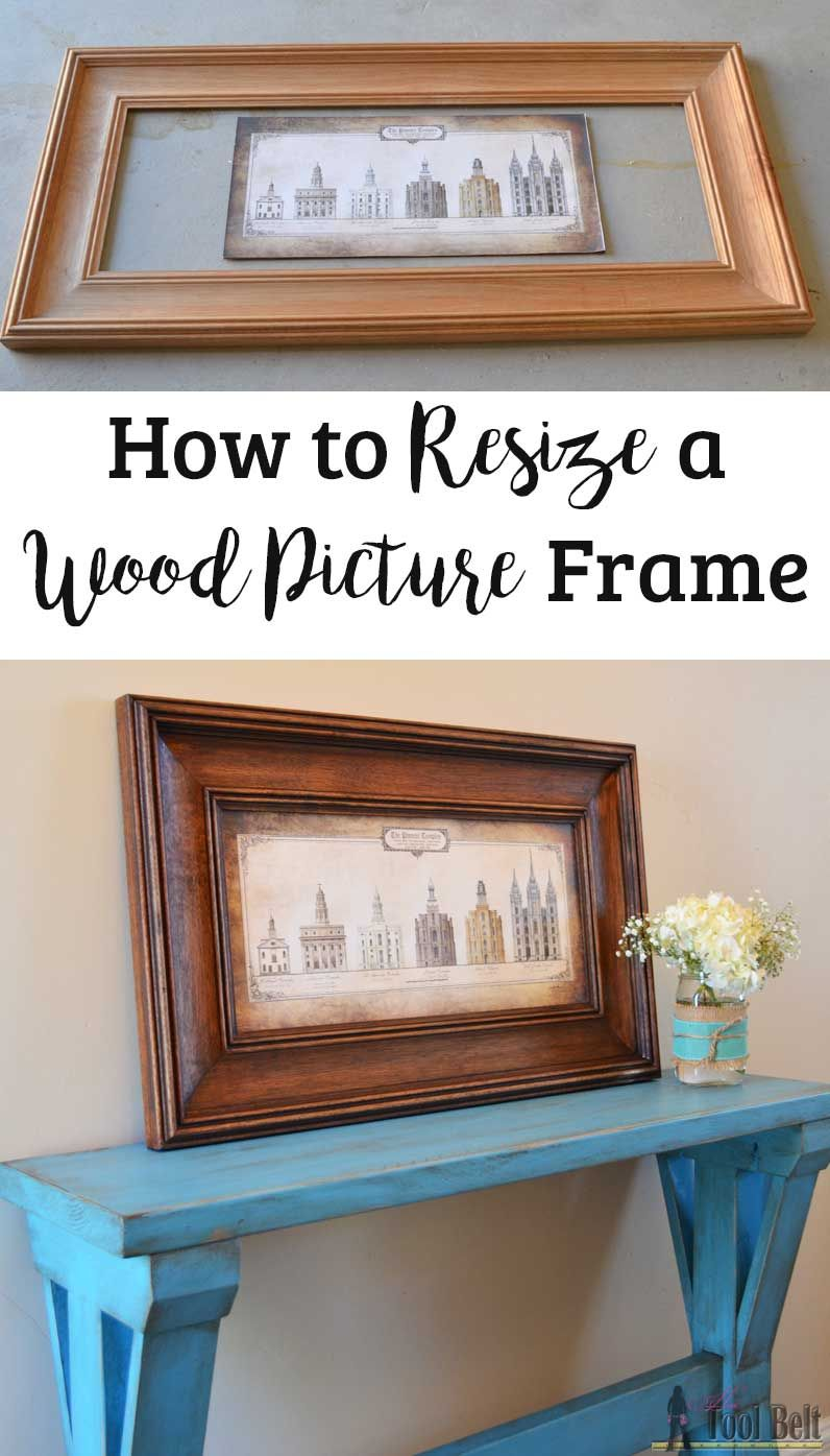 How to Resize a Wood Picture Frame | Trabajos en madera, Madera y ...
