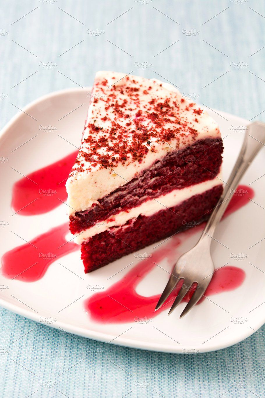 Red Velvet Cake Slice With Images Food Photography Cake Red