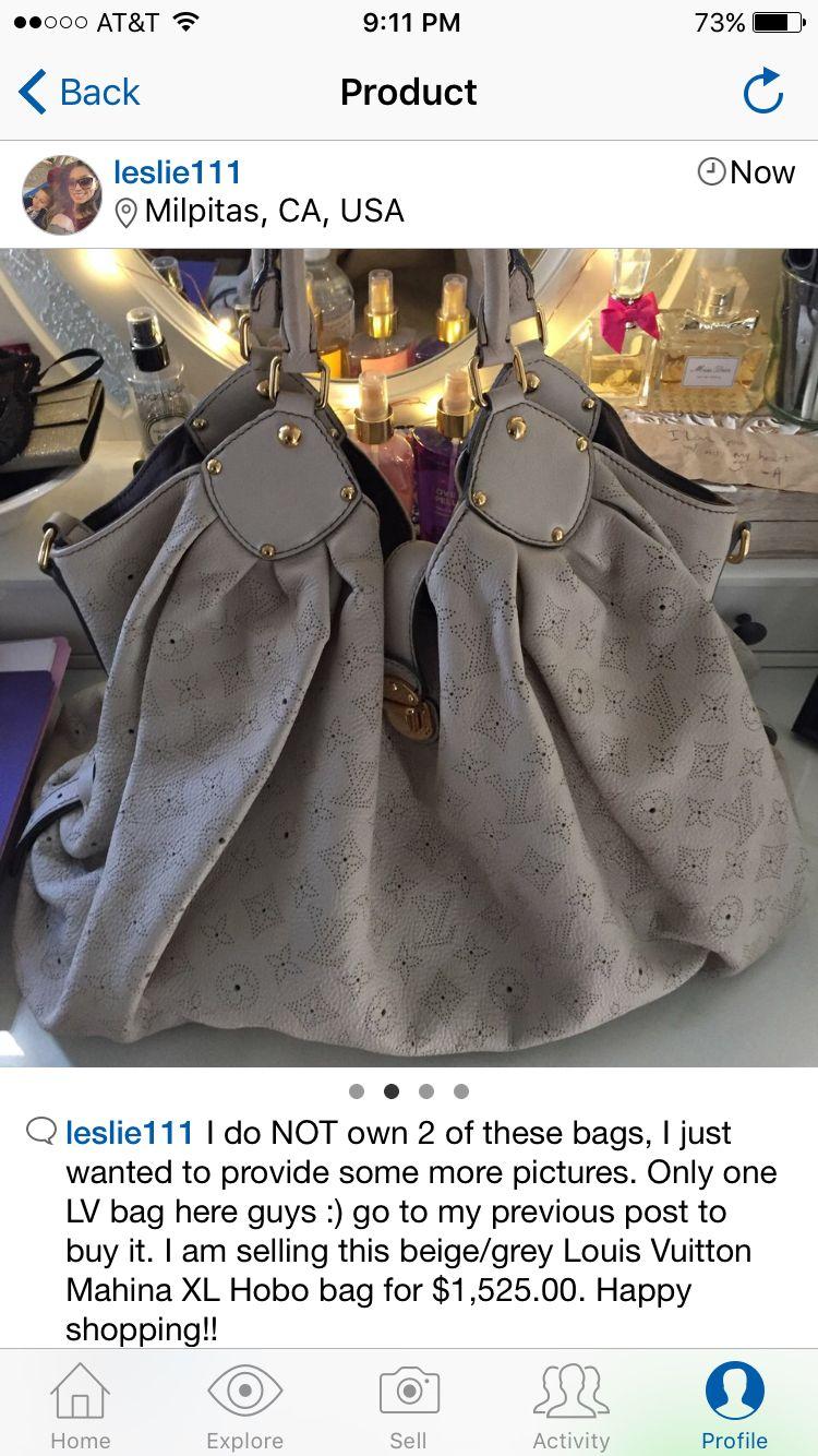 c48d8890877a Louis Vuitton Mahina XL Hobo for sale!!! My depop shop is Leslie111.  Designer handbag