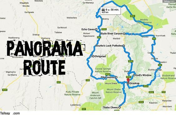 Panorama route in Zuid Afrika   Tallsay.| Panorama Route