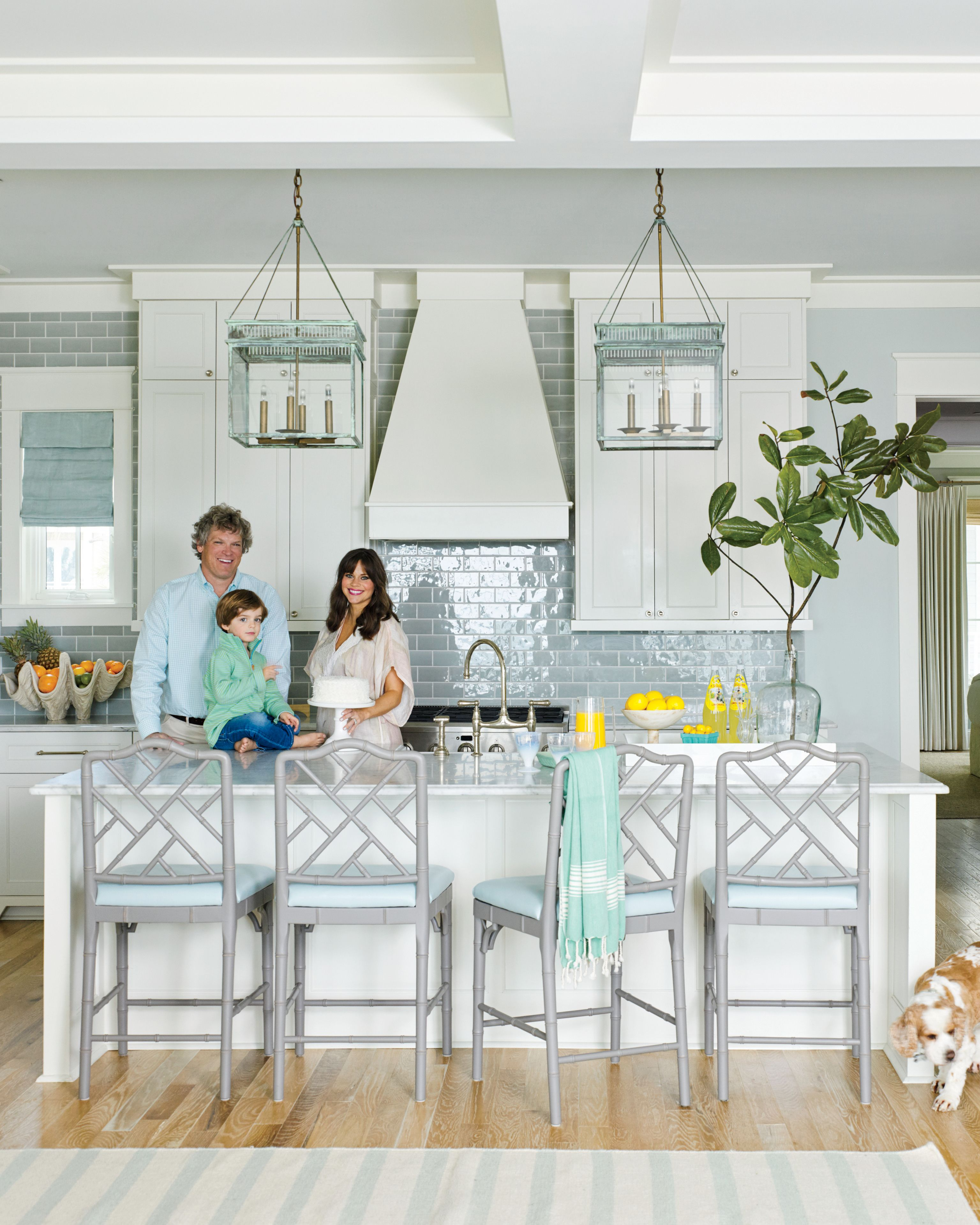 In a light-filled kitchen, especially one that looks out over the ...