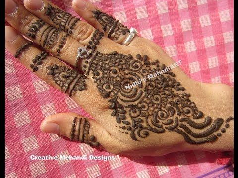 Mehndi For Shrimant : Youtube stylish gulf back hand henna mehndi design tutorial