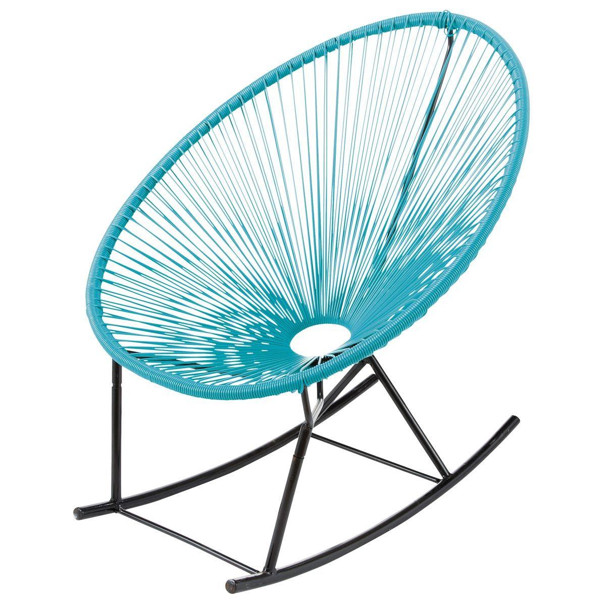 Garden Rocking Chair Turquoise Copacabana Maison Du Monde Garden Rocking Chair Rocking Chair Chair