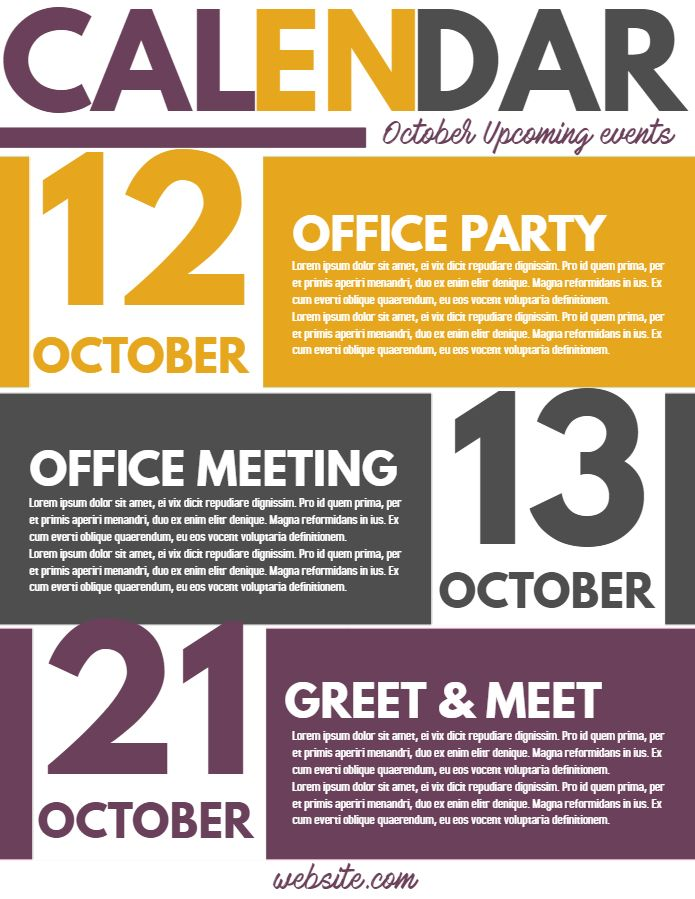 Corporate Newsletter Event Calendar Flyer Template Event Flyer