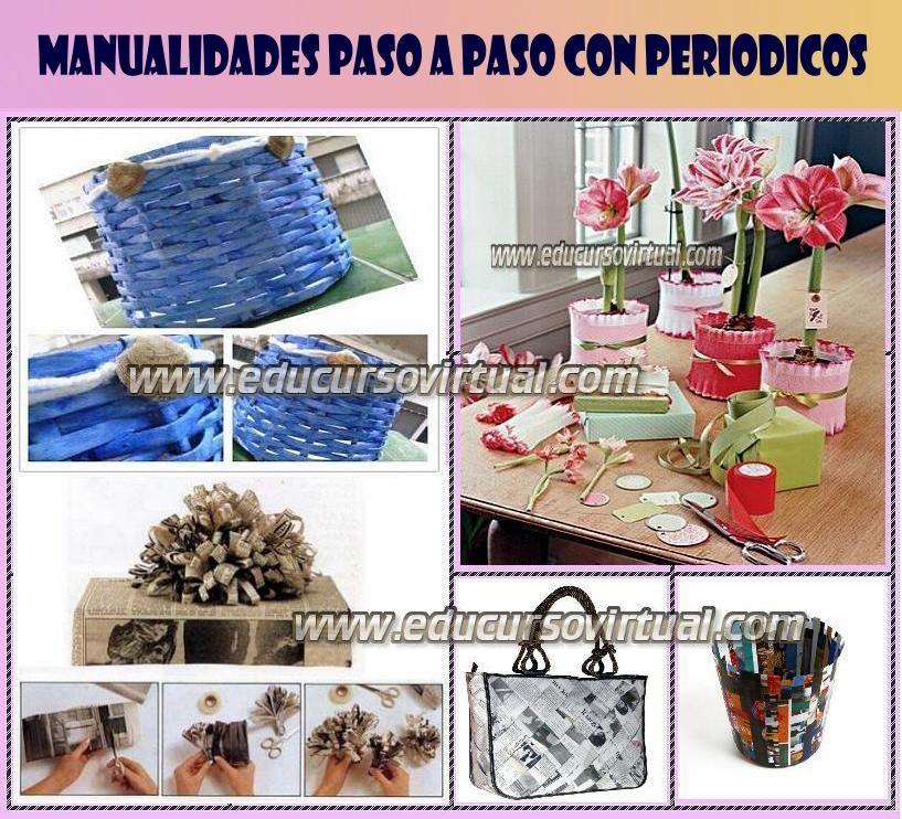 tiras de periodico para hacer una artesania | PAPEL | Pinterest ...