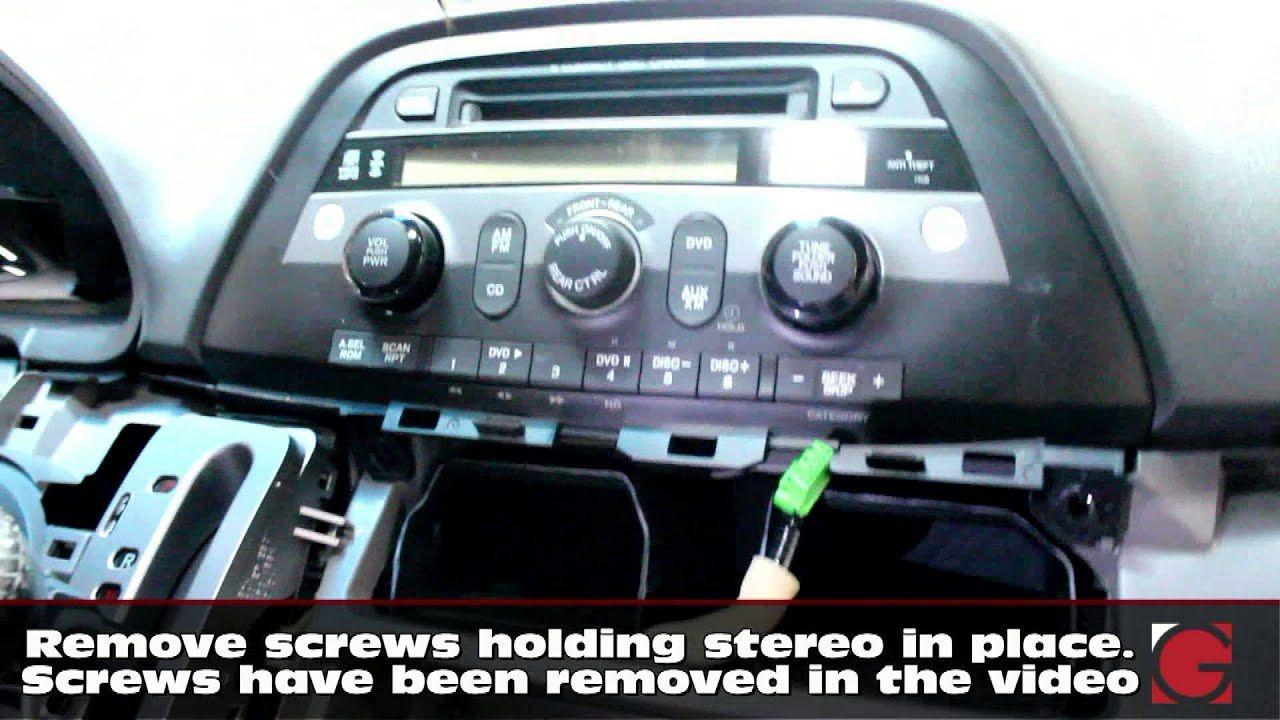 How To Remove Stereo Install Grom Iphone Usb Bluetooth Kit Honda Odyssey 2005 2006 2007 2008 Youtube Honda Odyssey Stereo Usb Music