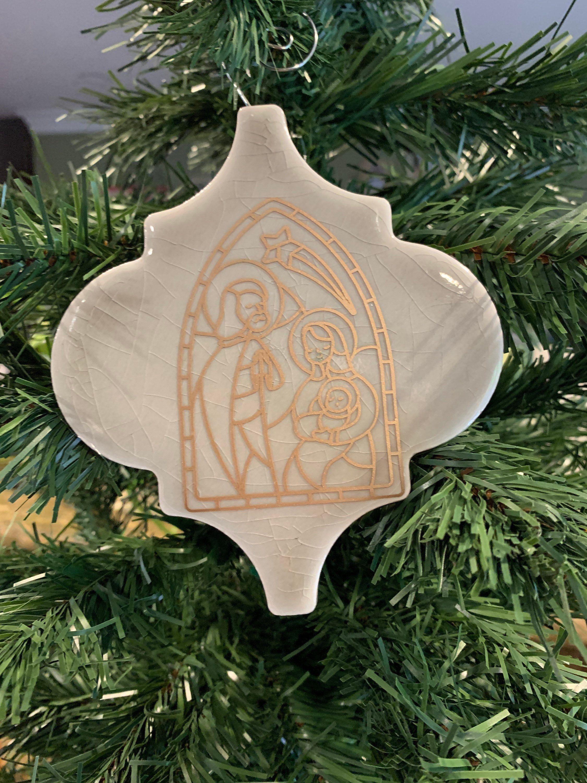 Arabesque Tile Christmas Ornament Holy Family Christmas Etsy Arabesque Tile Family Christmas Ornaments Holy Family Christmas