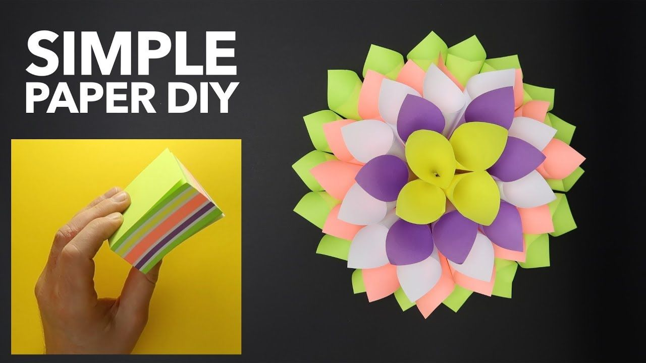 Amazing and easy origami tutorial simple origami flower sticky amazing and easy origami tutorial simple origami flower sticky notes d mightylinksfo