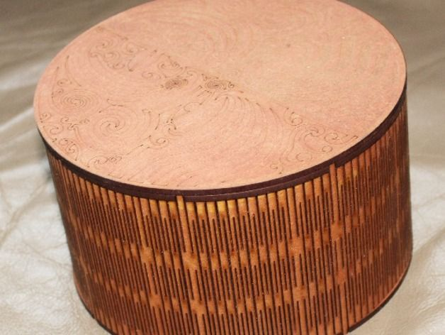 Lasercut Round Box 150 Diameter Use 3mm Material Mdf Or