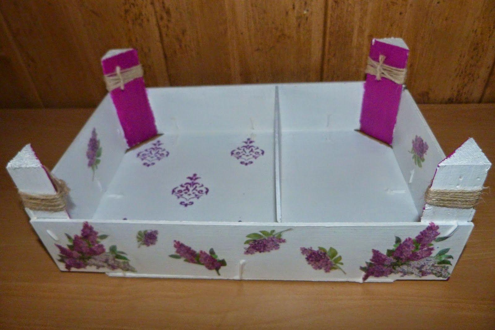 Caja de fresas reciclada como bandeja de desayuno - Cajas de fruta decoradas ...