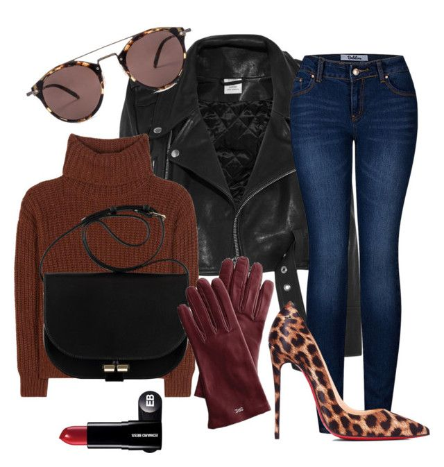 """""""bit rock"""" by mayaop on Polyvore featuring Vetements, Loro Piana, 2LUV, Christian Louboutin, Oliver Peoples and Mark & Graham"""
