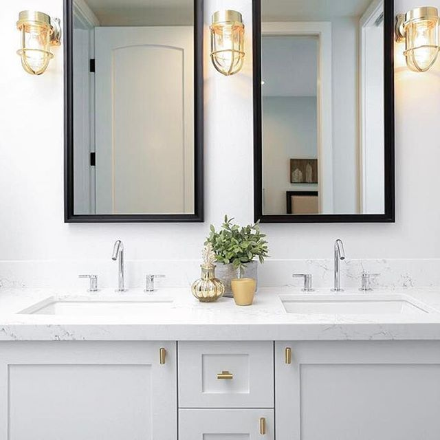 Photo of mixing chrome and brass in bathroom – Google Search