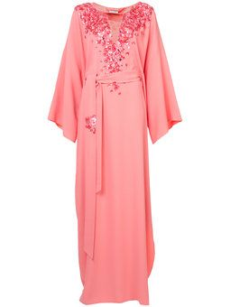 32bc6bc042e43 OSCAR DE LA RENTA embroidered kaftan dress  3