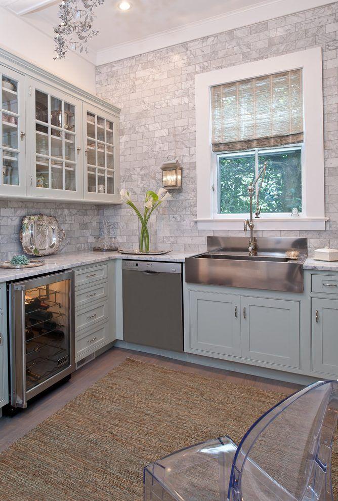 Farmhouse backsplash kitchen traditional with subway tiles