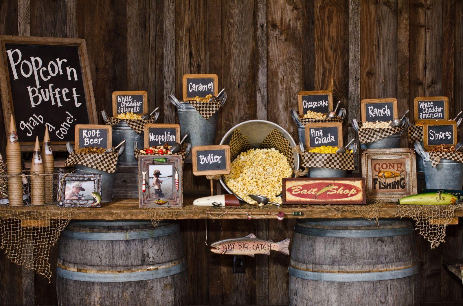 Popcorn Buffet Freedom Snacks Appetizers Gourmet