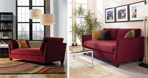 Amazing Ideas For Maroon Sofa